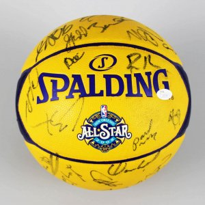 2008 NBA All-Stars Multi-Signed Basketball 30 Sigs. Kobe Bryant, Yao Ming, Iverson etc. - JSA Full LOA