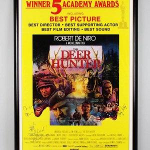 The Deer Hunter Signed Movie Poster Robert De Niro, Walken, Savage & Meryl Streep Display - JSA Full LOA