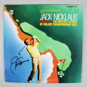 "Jack Nicklaus Signed ""The Greatest 18 Holes Of Major Championship Golf"" Laser Disc Album - PSA/DNA & JSA"