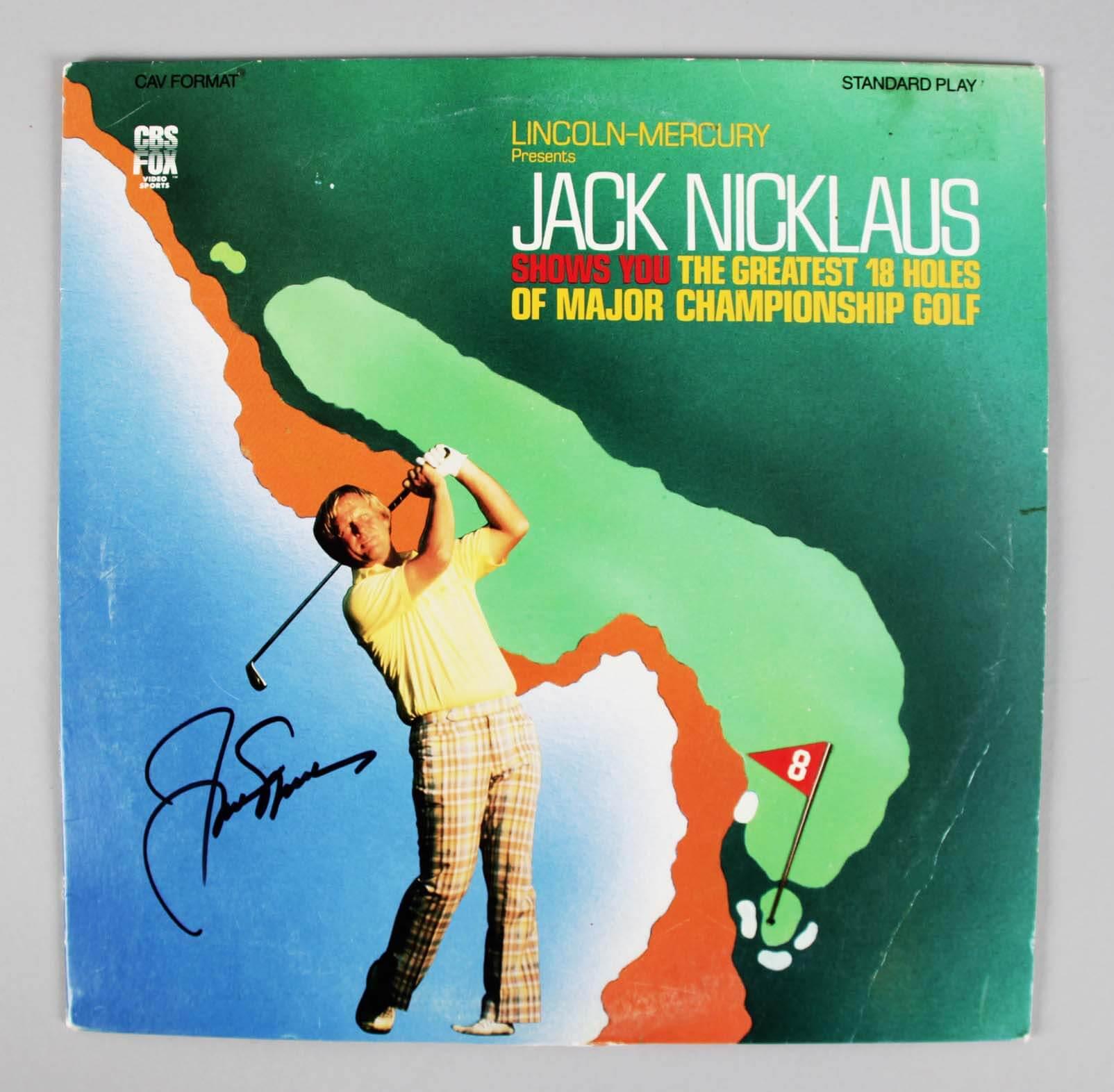 """Jack Nicklaus Signed """"The Greatest 18 Holes Of Major Championship Golf"""" Laser Disc Album - PSA/DNA & JSA"""