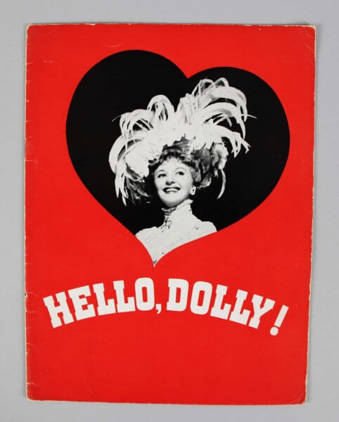 Mary Martin Signed & Inscribed Twice Vintage Signature Hello Dolly Theatre Royal, London Program