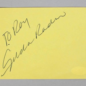 Saturday Night Live - Gilda Radner Signed 4x5 Vintage Album Page - COA JSA