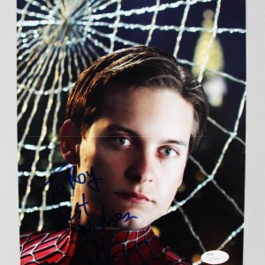 Spider-Man Toby Maguire Signed & Inscribed 8x10 Photo - COA JSA