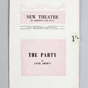 1958 The Party (Play) Signed Charles Laughton, Elsa Lanchester, Albert Finney,Oscar Lewenstein - JSA Full LOA
