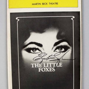 "Elizabeth Taylor Signed ""The Little Foxes"" Playbill Opening Night Program"