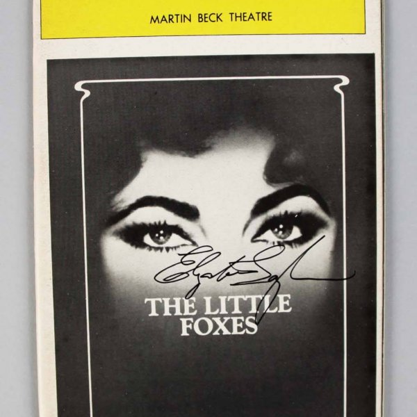 """Elizabeth Taylor Signed """"The Little Foxes"""" Playbill Opening Night Program"""
