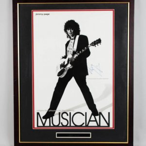 Led Zeppelin - Jimmy Page Signed 24x30 Poster Display - JSA Full LOA