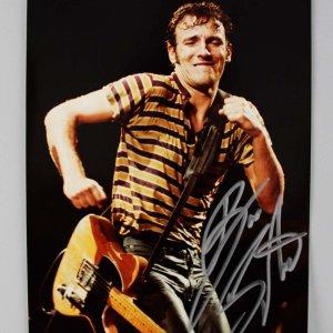 Rock n' Roll HOFer - Bruce Springsteen Signed 8x10 Photo - JSA Full LOA