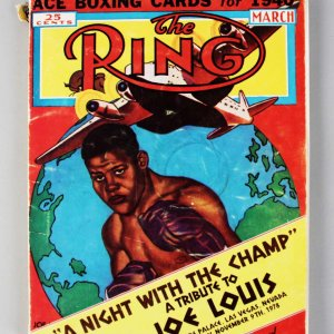 1978 The Ring Signed Program Magazine 15 Sigs. Joe Louis, Muhammad Ali, Joe DiMaggio, Sugar Ray Robinson + COA PSA