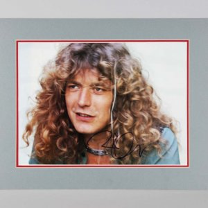 Led Zeppelin - Robert Plant Signed 15x20 Matted Photo Display - JSA Full LOA