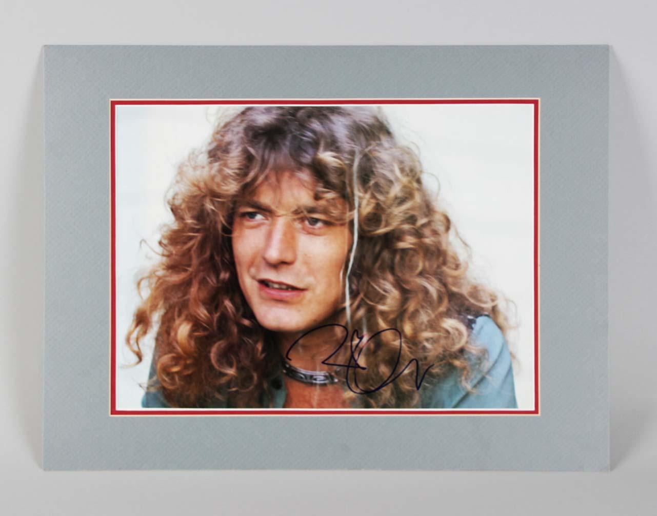 Robert Plant Signed Photo Matted Display Led Zeppelin - COA JSA