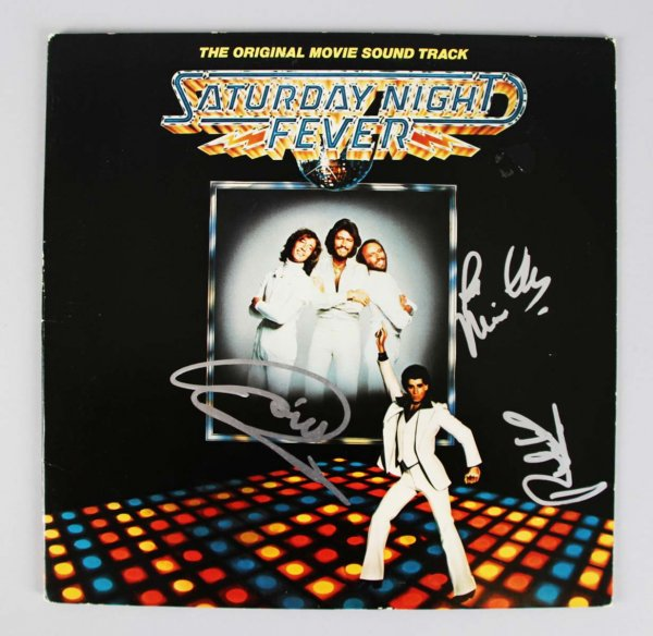 Saturday Night Fever - The Bee Gees - Barry, Robin & Maurice Gibb Signed Album Cover- COA JSA