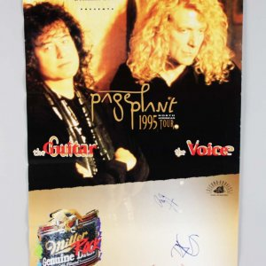 1995 Robert Plant & Jimmy Page Signed 20x30 North American Tour Poster - JSA Full LOA