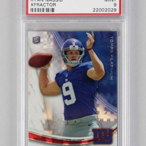 2013 Topps Platinum New York Giants Ryan Nassib XFractor #111 Rookie Card RC PSA Graded MINT 9
