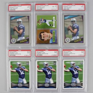 2012 Indianapolis Colts - Andrew Luck Graded Rookie (6) Card RC Lot Feat. Topps & Topps Chrome