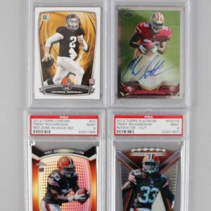 NFL Rookie Rejects PSA Graded (4) Card Lot Johnny Manziel, Marcus Lattimore AUTO & Trent Richardson