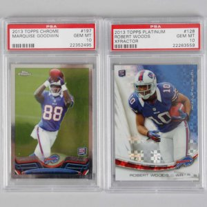 2013 Topps Robert Woods & Marquise Goodwin Graded RC Cards - PSA GEM MT 10