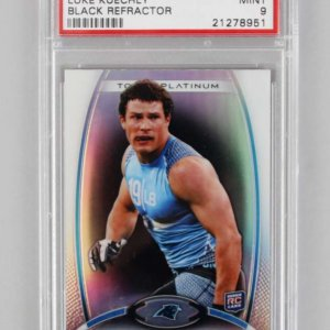 2012 Topps Platinum Carolina Panthers Luke Kuechly Black Refractor Rookie Card RC PSA Graded MINT 9
