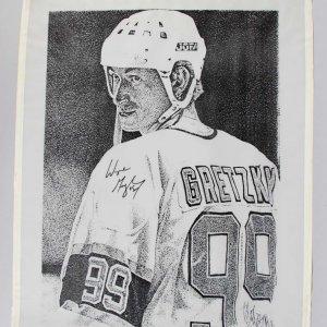 "Los Angeles Kings - Wayne Gretzky Signed 18 x 22.5"" Poster- COA JSA"