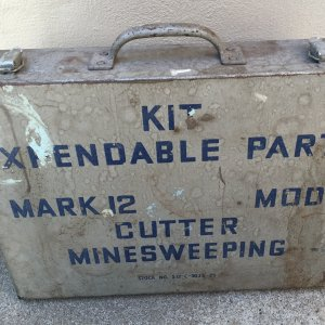 World War II  EXPENDABLE PARTS KIT MARK 12 MODI CUTTER MINE SWEEPING/