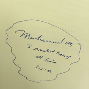 Muhammad Ali Signed and Inscribed the Greatest Boxer of All Time Book
