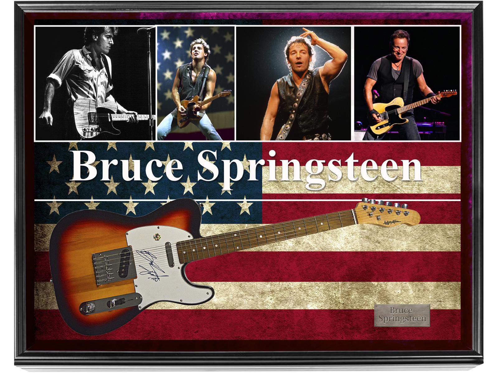 Bruce Springsteen Autographed Guitar in Custom Display Case