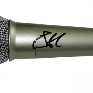 Aerosmith Steven Tyler Autographed Signed Silver Microphone UACC RD COA AFTAL