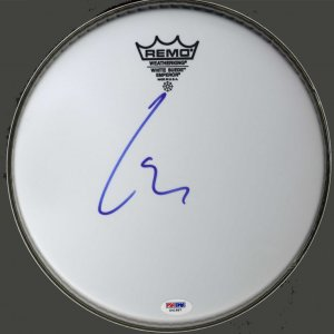 Lars Ulrich Metallica Signed Emperor Size 10 Drumhead UACC RD COA AFTAL PSA
