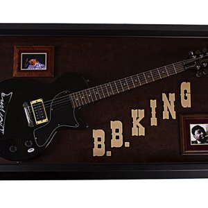B.B. King Autographed Signed Guitar & Custom Display Case PSA AFTAL