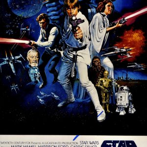 George Lucas Autographed 12x18 Star Wars Poster Photo UACC RD COA AFTAL