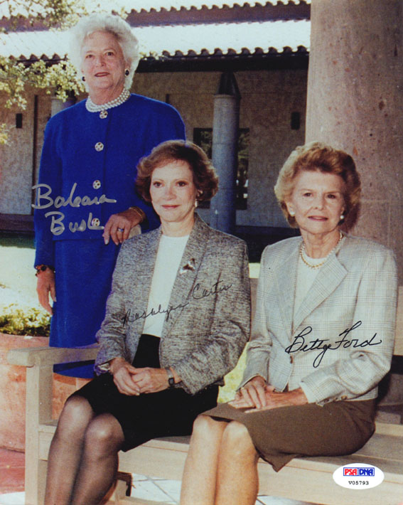 President First Ladies Signed Photo Carter Bush Ford Psa/Dna AFTAL