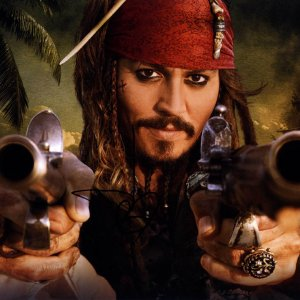 Johnny Depp Autographed 11x14 Jack Sparrow Poster Photo Video Proof UACC RD AFTA