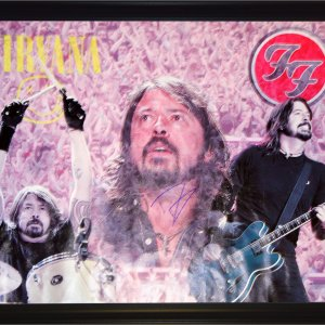 Dave Grohl Nirvana Foo Fighters Rare Autographed 24x26 Canvas Poster Photo & Video Proof