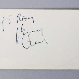 Bing Crosby Signed 3x5 Vintage Album Page Cut - COA JSA