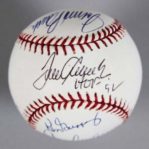 Cincinnati Reds HOFers & Legends Multi-Signed Baseball -7 Sigs- JSA Full LOA
