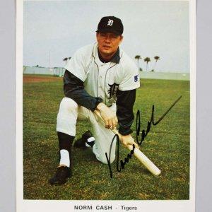 """Detroit Tigers - Norm Cash Signed 7"""" x 8.5"""" Photo - JSA"""