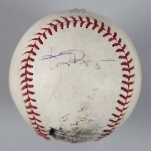 LA Angels - Tony Reagins Game-Used, Signed Baseball - COA MLB