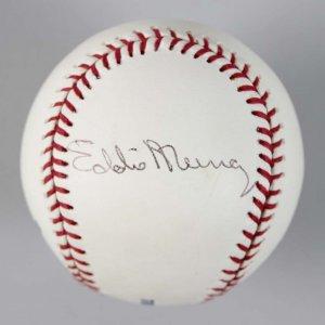 Baltimore Orioles Eddie Murray Signed OML Baseball - COA JSA