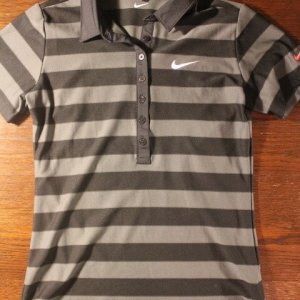 A Michelle Wie Game-Used Custom Nike Golf Shirt.  2012 LPGA Season.