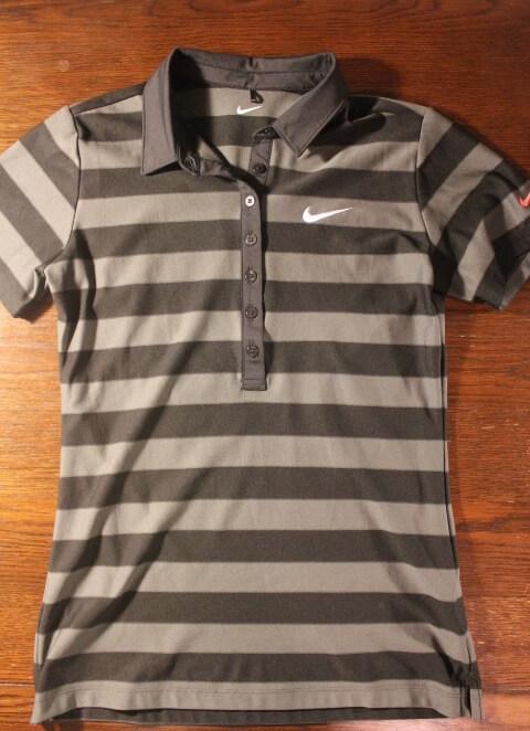 A Michelle Wie Game Used Custom Nike Golf Shirt 2012 Lpga