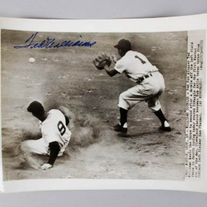 Ted Williams Signed Wire Photo Red Sox - COA JSA