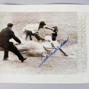 Boston Red Sox Ted Williams Signed 8x10 B&W Wire Photo - JSA Full LOA
