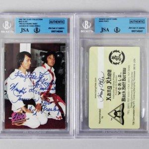 1992 River Group - Elvis Presley & Kang Rhee #542 Card Signed By Kang Rhee & Rhee Signed Guest Card JSA