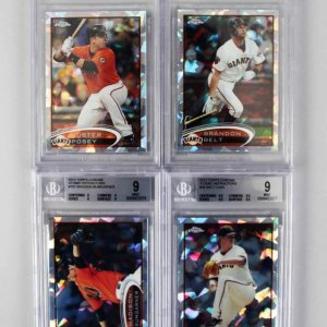 2012 Giants - Atomic Refractor /10 BGS Graded Card Lot - Matt Cain, Madison Bumgardner, Buster Posey & Belt RC