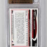 2012 Topps Chrome -Nationals- Bryce Harper Sepia Refractor 54/75 Rookie Baseball Card (#196 - Graded BGS 9.5)