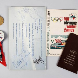 1960 Winter Olympics Handbook Signed by Walt Disney, Victor Borga, Art Linkletter, Ester Williams