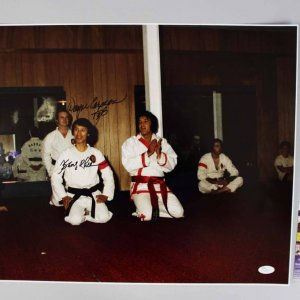 Elvis Presley Karate Instructor - Kang Rhee & Wayne Carmen Signed 16x20 Photo - JSA COA
