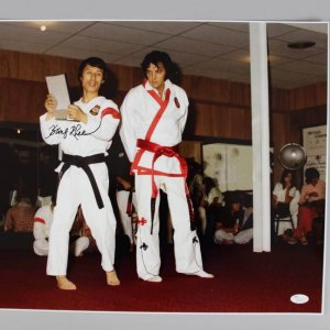 Elvis Presley Karate Instructor - Kang Rhee Signed, Inscribed 16x20 Photo - JSA COA