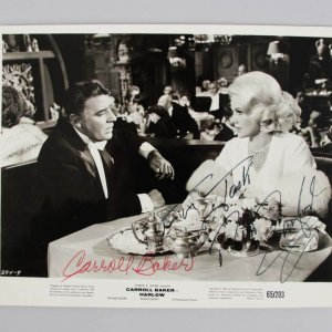 1965 Harlow - Peter Lawford & Carroll Baker Signed Paramount 8x10 Move Still - JSA Full Letter