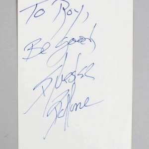 Sylvester Stallone Signed & Inscribed 4x6 Vintage Album Page - JSA Full LOA